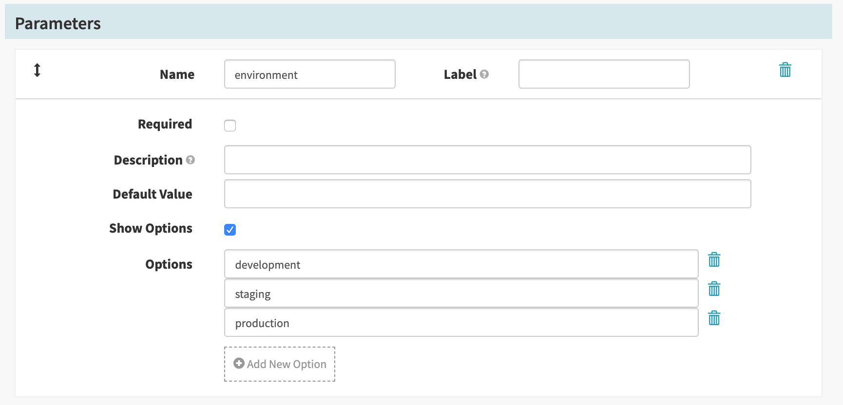 environment parameter